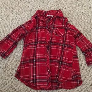 Derek Heart plaid flannel button down shirt size M
